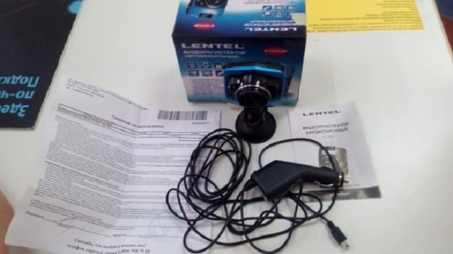 Комплект поставки видеорегистратора Lentel GT-D06