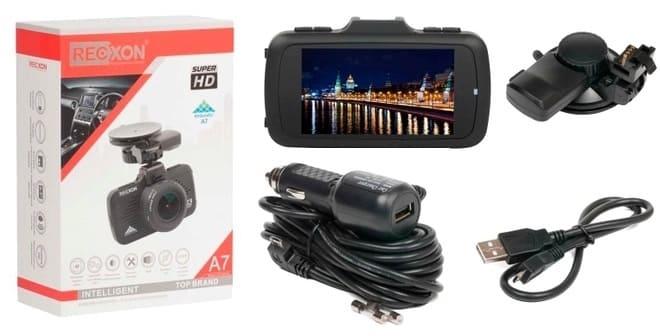 Комплектация видеорегистратора Recxon A7