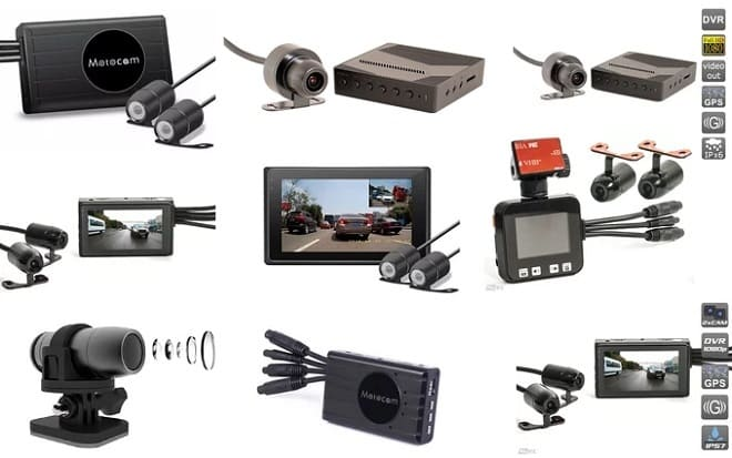 Разные видеорегистраторы для мотоцикла