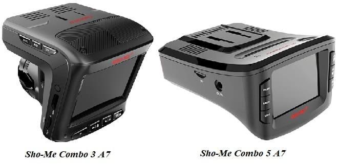 Видеорегистратор Sho-Me Combo 3 A7 и Combo 5 A7