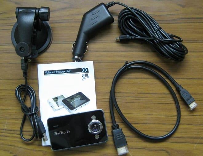Комплект поставки Vehicle Blackbox DVR