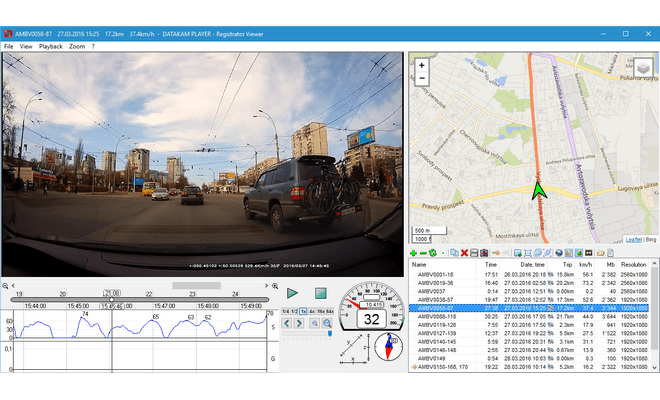 Проигрыватель файлов с GPS