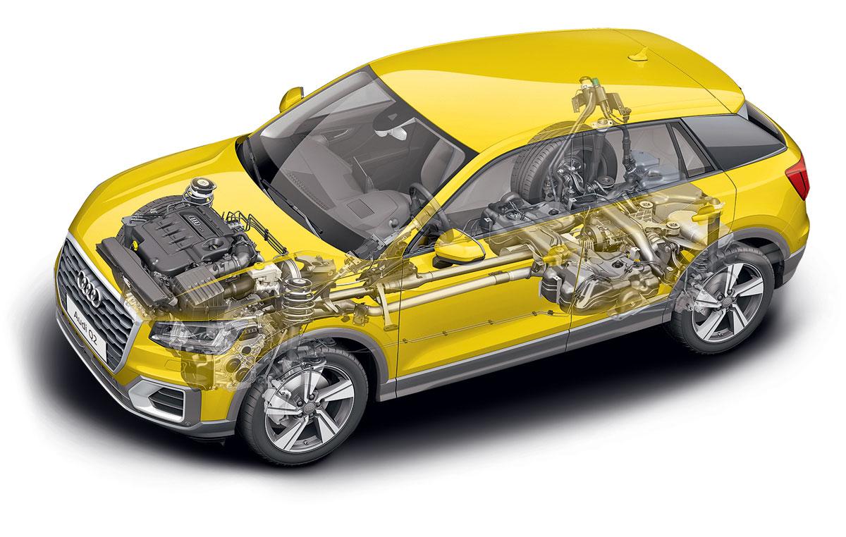 Audi Q2 2018 подвески