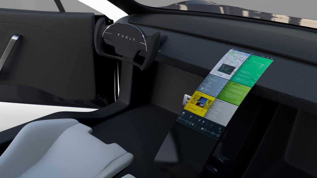 Tesla Roadster 2 панель управления