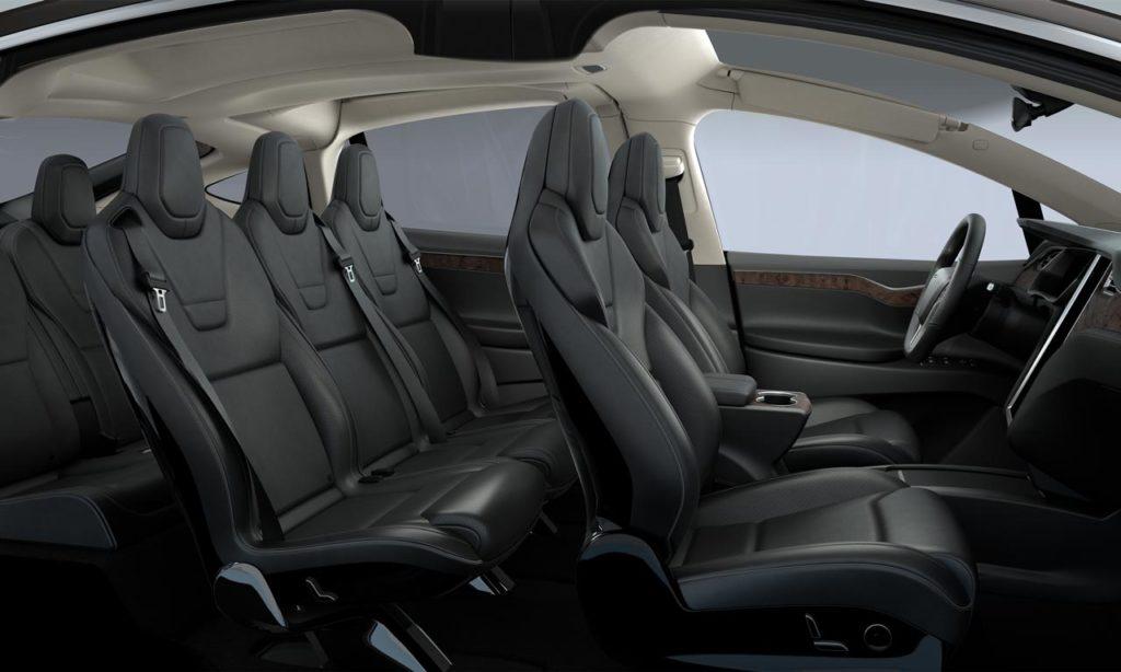 Tesla Model X сиденья